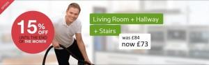 Hallways stairs Living room clenaing