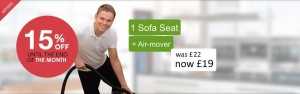 Sofa seat and air-mover deal