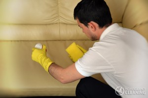 cleaning leather in London