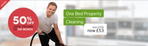 one bed property cleaning deal