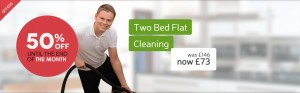 two bed flat cleaning offer
