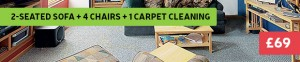 sofa + chairs + carpet cleaning deal