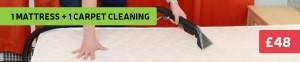 1 mattress + 1 carpet cleaning offer