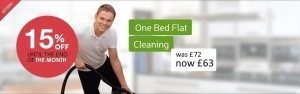 1 bed flat cleaning